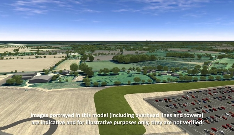 Watch video: Sizewell C | Stage 4 CGI | Darsham park and ride