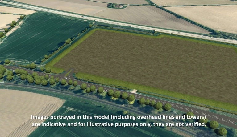Watch video: Sizewell C | Stage 4 CGI | Seven Hills freight management facility