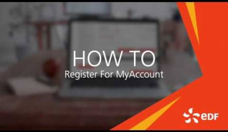 Watch video: How to register for MyAccount
