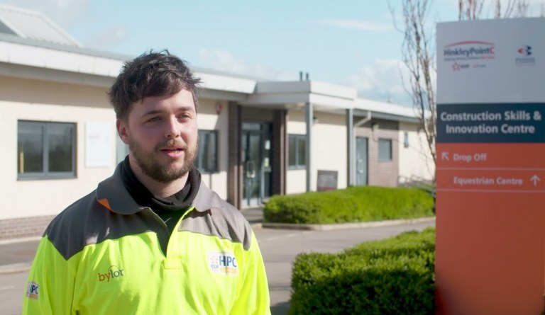 Watch video: Training and development opportunities for apprentices at Hinkley Point C