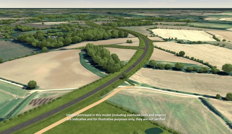 Watch video: Sizewell C CGI - Two Village Bypass