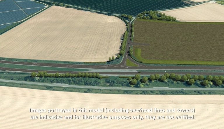 Watch video: Sizewell C | Stage 4 CGI | Innocence Farm freight management facility