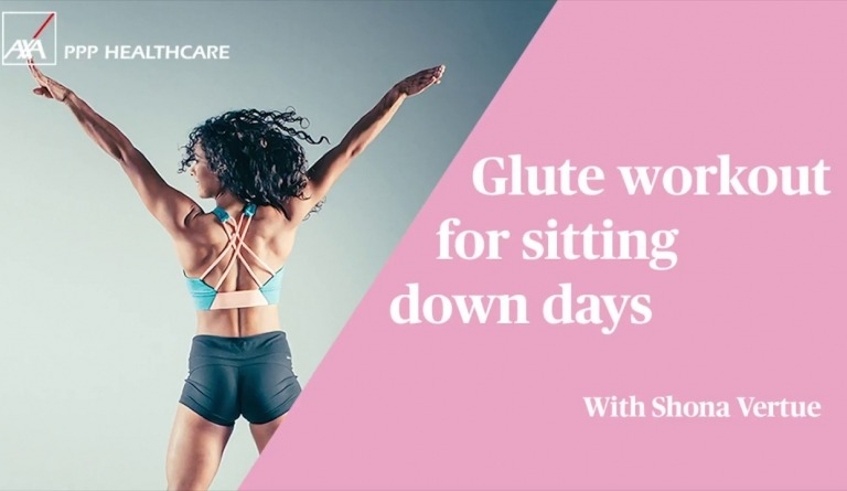 Watch video: Glute workout for sitting down days   #MyFlyingStart with Shona Vertue