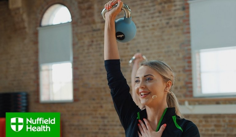 Watch video: Kettlebell Full Workout - Nuffield Health