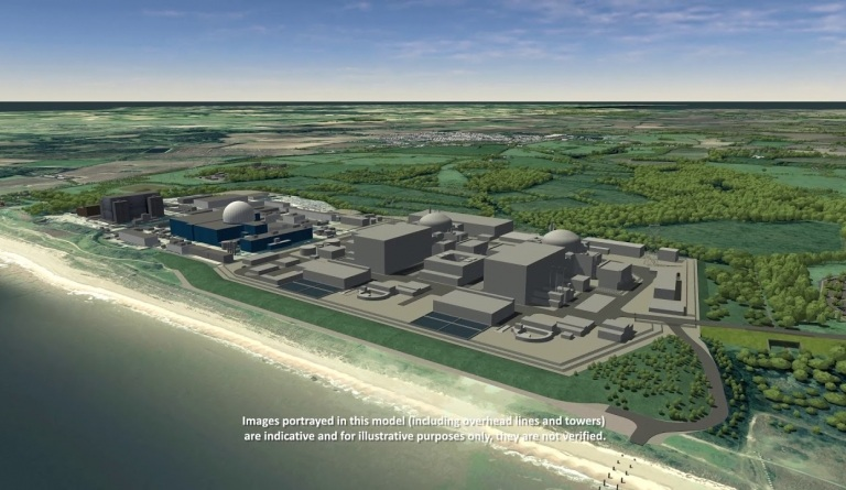 Watch video: Sizewell C CGI - DCO Main Site Operational 2