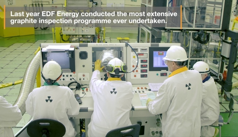 Watch video: Graphite Inspections at Hunterston B