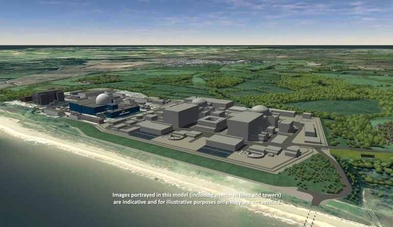 Watch video: Sizewell C CGI - DCO Main Site Construction Sequence 1