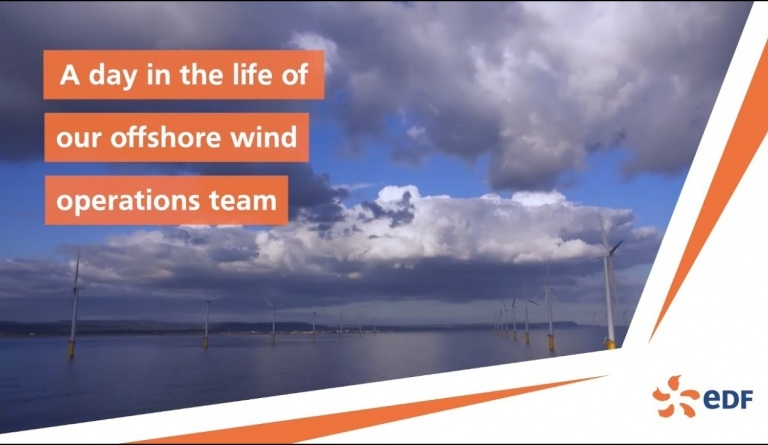 Watch video: A day in the life of the #EDF Renewables UK #offshorewind operations team