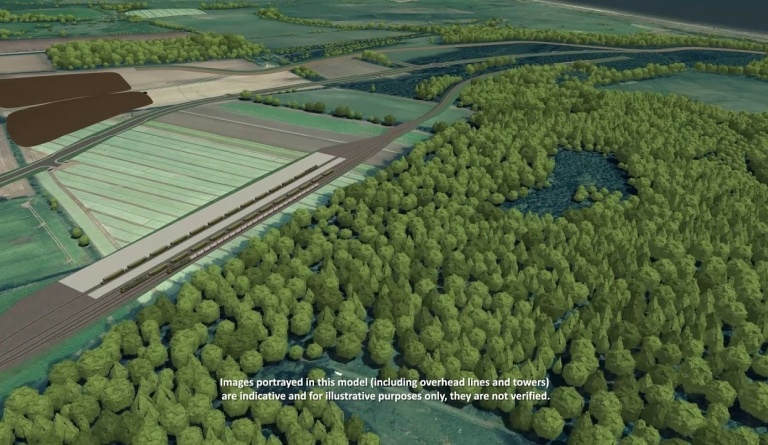 Watch video: Sizewell C CGI - Green Route