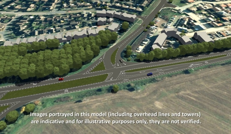 Watch video: Sizewell C | Stage 4 CGI | Highway improvements A12/B1119