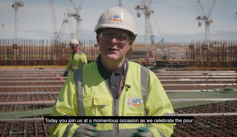 Watch video: Stuart Crooks, Hinkley Point C MD, discusses the project reaching its latest milestone