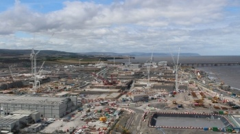 Watch video: Latest aerial shots of Hinkley Point C