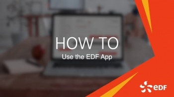 Watch video: How to use the EDF app