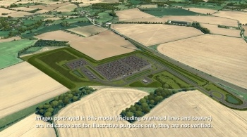 Watch video: Sizewell C | Stage 4 CGI | Wickham Market park and ride