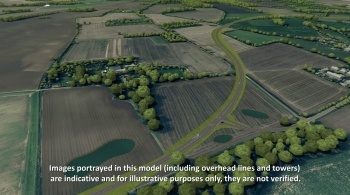 Watch video: Sizewell C | Stage 4 CGI | Two village bypass (left to right)