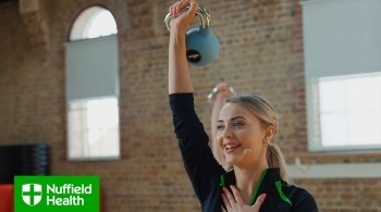 Watch video: Kettlebell Full Workout - Nuffield Health
