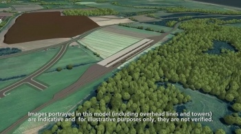 Watch video: Sizewell C | Stage 3 CGI | Green route - during construction