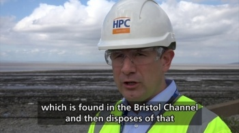 Watch video: Dredging mud at Hinkley Point C