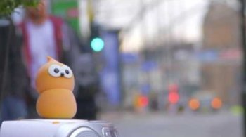 Watch video: Zingy busking