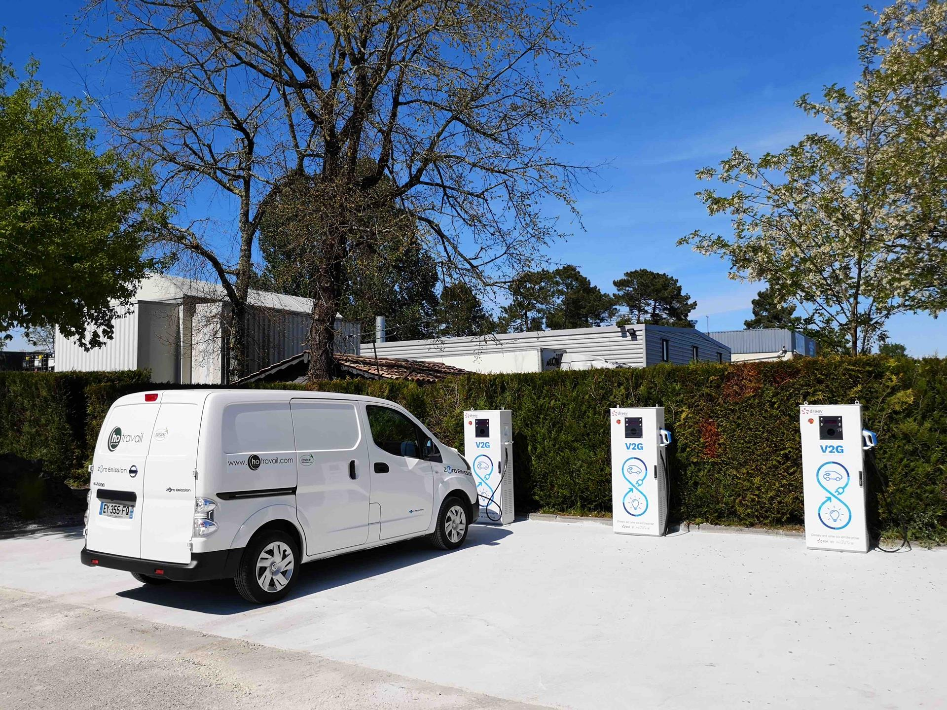 Van vehicle to grid charging