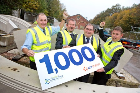Sterling Services are the 1000th firm to be signed up to the power station project
