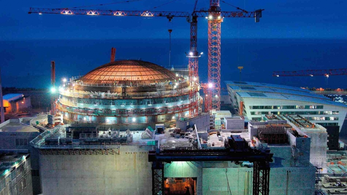 Nuclear power station under construction