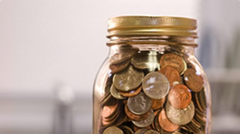 Jar of loose change