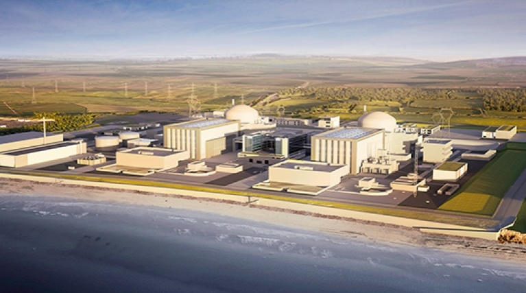 Hinkley Point C from above
