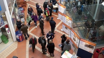 Hinkley Point C presentation stand inside a shopping centre