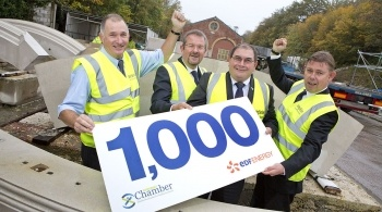 Men celebrating 100 firms sign-up to compete for HPC contracts