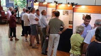 People at a presentation on the formal consultation for Hinkley Point C